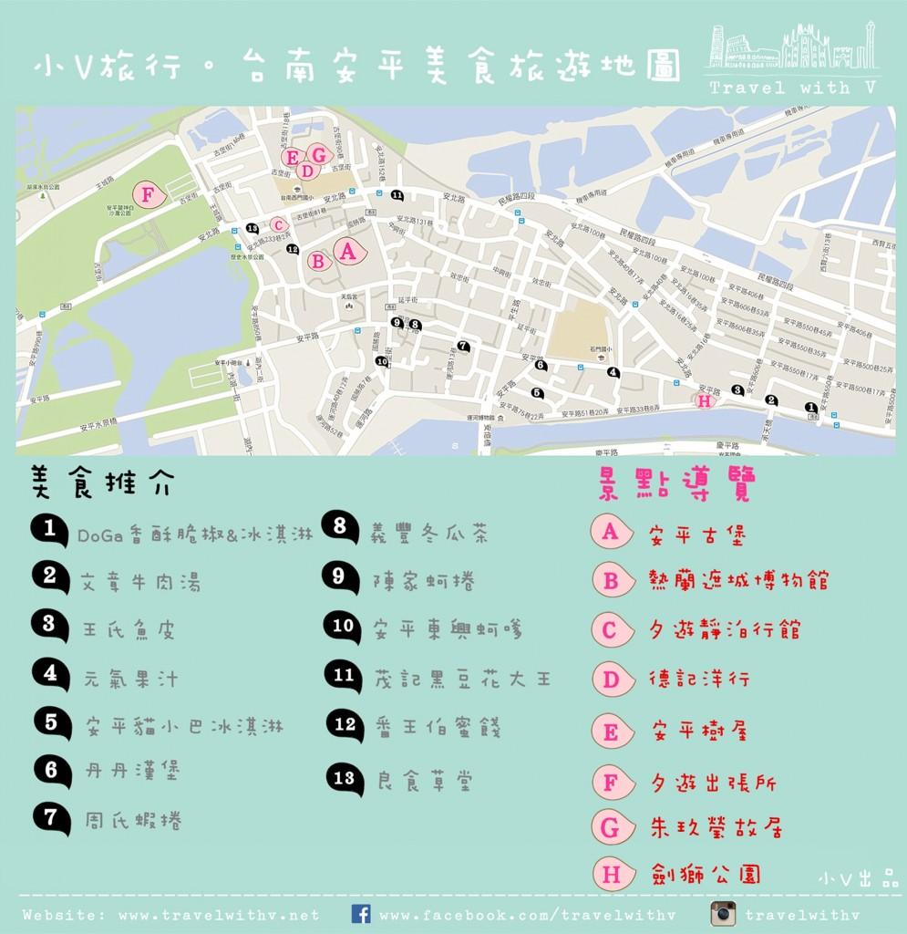 台南安平美食旅遊地圖