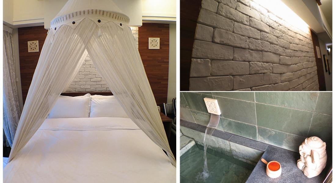 宜蘭礁溪【艾瑪朵拉  溫泉渡假行館】峇里風情。浪漫私人獨立溫泉房